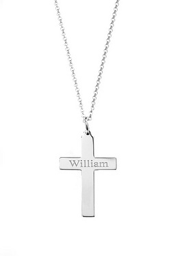 Personalised Silver ¼ Cross