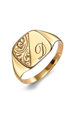 9ct Gold Personalised Gents Signet ...