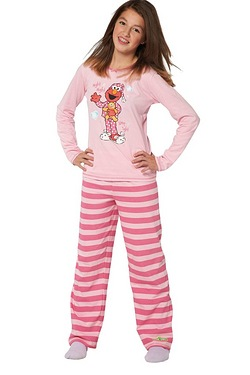 Girls Personalised Elmo Pyjamas