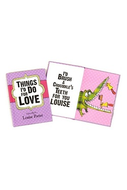 Personalised Things Id Do for Love Hard Back Book