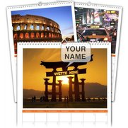 Personalised Around The World Calendar
