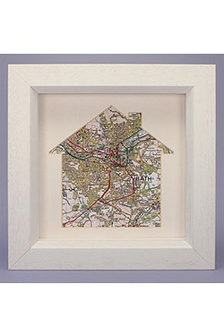 Personalised Our Home Framed Map