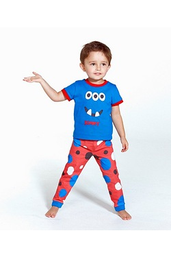 Personalised Boys Monster Pyjamas