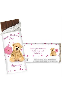 Personalised Teddy Flower Chocolate...