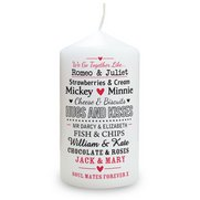 Personalised Couples Candle