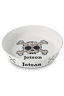 Bling Skull Pet Bowl