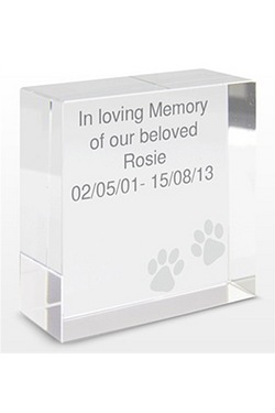 Personalised Paws Medium Crystal Token