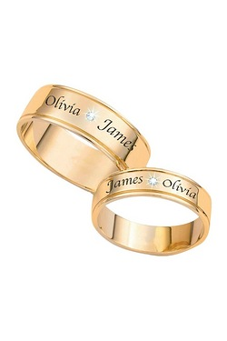 Personalised Diamond Wedding Band O...