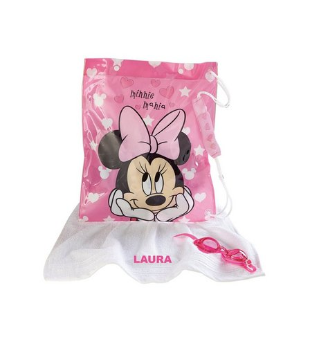 Image for Swim Bag, Goggles and Personalised Towel - Minnie Mouse from ace