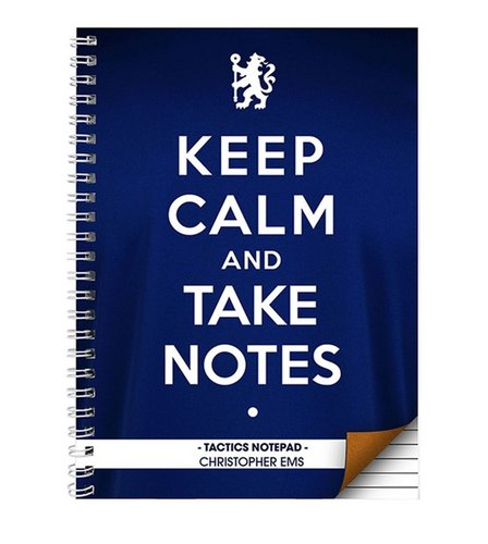 Image for Chelsea Keep Calm Personalised Notebook from ace