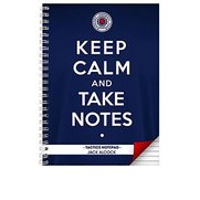 Rangers Keep Calm Personalised Note...