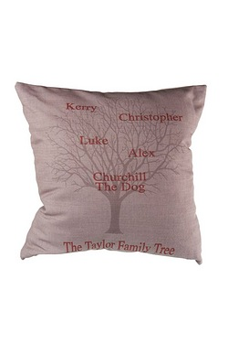 Family Tree Personalised Cushion Cover