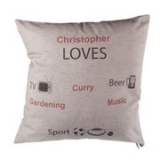 Boy Likes... Personalised Cushion C...