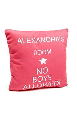 No Boys Allowed Personalised Cushio...