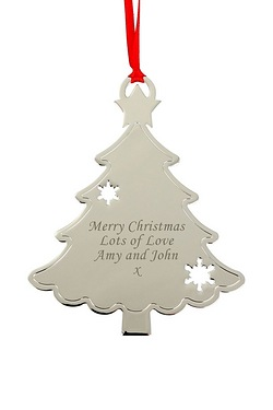 Personalised - Metal Tree Decoration