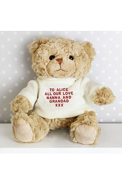 Personalised - Teddy Message Bear i...