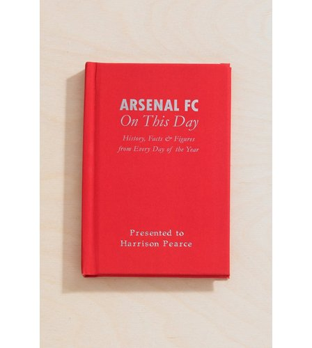 Image for Personalised Arsenal On This Day Book from ace