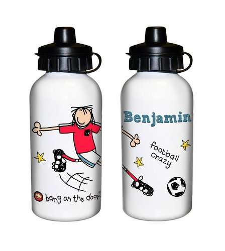 Image for Personalised Bang On The Door Football Crazy Drinks Bottle from ace