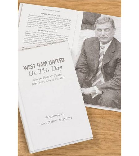 Image for Personalised West Ham On This Day Book from ace