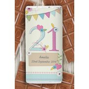 Pastel Birthday Chocolate Bar
