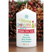 Personalised - Bright Christmas Candle