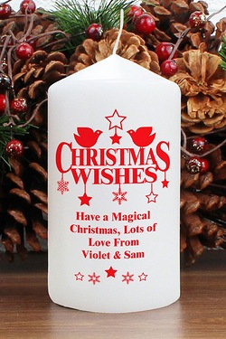 Personalised - Christmas Wishes Candle