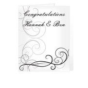 Black Swirl Wedding Card