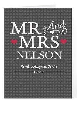 Personalised Mr and Mrs Card
