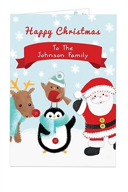 Felt Stitch Friends Christmas Card