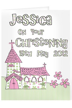 Pink Church Card