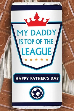 Personalised Top of the League Choc...