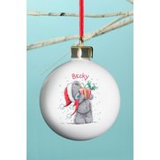 Personalised - Tatty Teddy Xmas Bauble