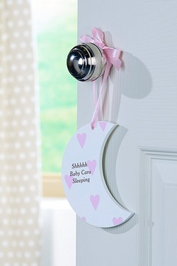 Personalised Moon Shape Door Plaque