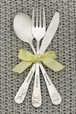 Personalised Animal Cutlery Set