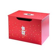 Personalised Toy Chest - Red Robot