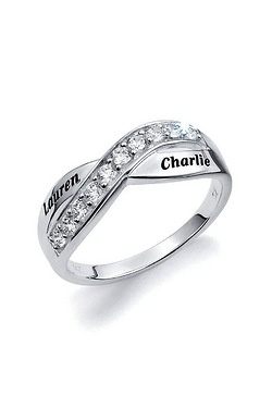 Personalised Silver And CZ Eternity...