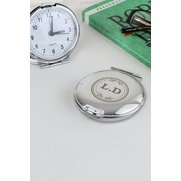 Monogram Round Travel Clock