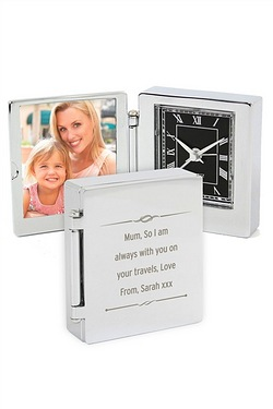 Scroll Photo Frame Travel Clock