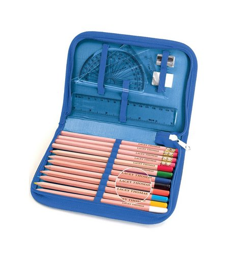 Image for Personalised Pencils With Zip Around Pencil Case from ace
