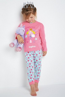 Girls Personalised Little Kingdom Pyjamas