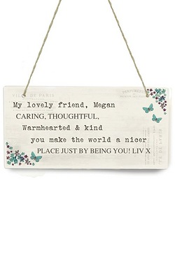 Forget Me Not Wooden Plaque