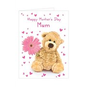 Teddy Flower Card