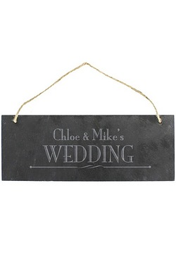 Personalised Wedding Slate Door Plaque