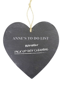 Large Heart Slate Chalk Board