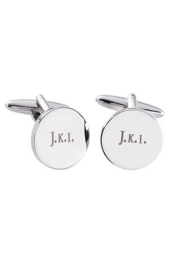 Personalised Round Silver Finish Cu...