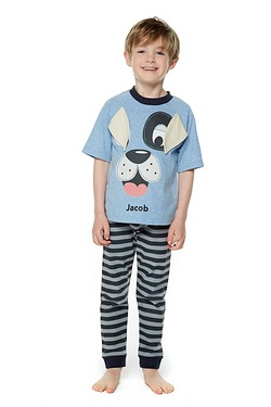 Boys' Personalised Puppy Pyjamas