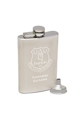 Personalised Everton Crest Hip Flask