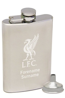 Personalised Liverpool Crest Hip Flask
