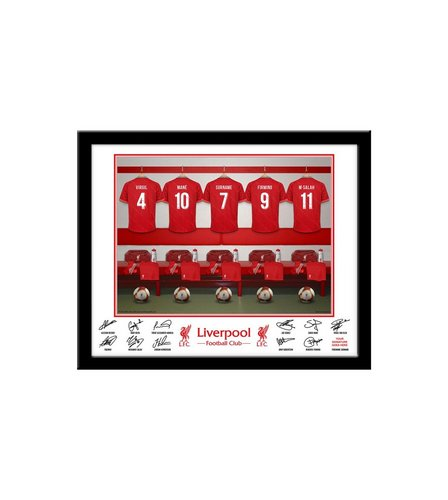 Image for Personalised Liverpool Dressing Room Print - Framed from ...