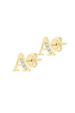 9ct Gold Personalised Initial Earrings